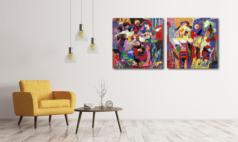Modern Interieur Schilderij : Trendy interieur met ronde schilderijen my lovely home