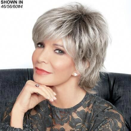 recommended short haircuts for women over 50 with round