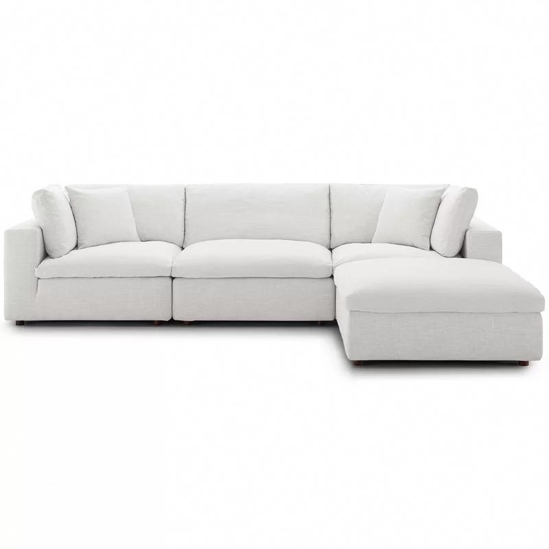 Clarita Seccional Modular Sobrecargado Con Otomana In 2020 Modern Sofa Sectional Sectional Sofa Beige Modular Sectional