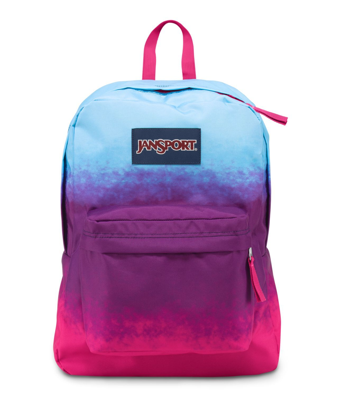 JanSport SuperBreak School Backpack - Purple Night Color Ombre ...