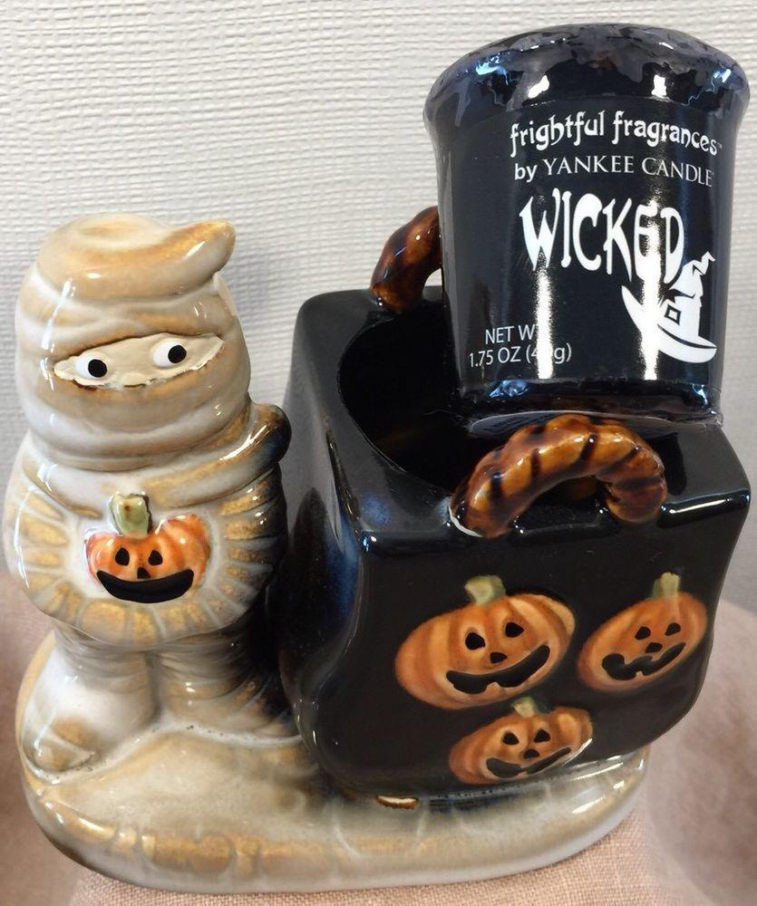 Yankee candle halloween mummy ronnie walter design w wicked votive