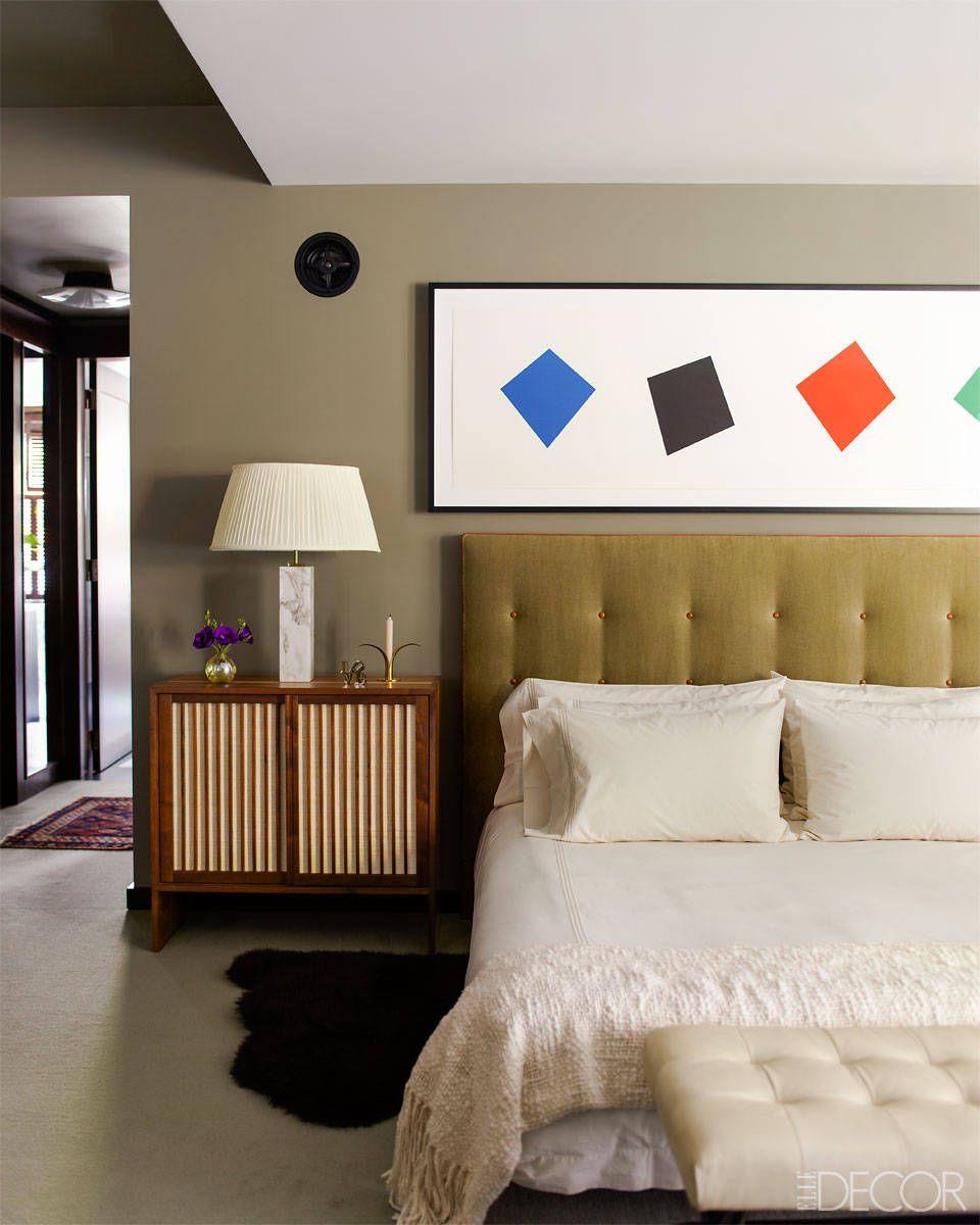 Elle decor master bedroom  Inside An Art Loverus Townhouse Renovation  Greenwich village Elle