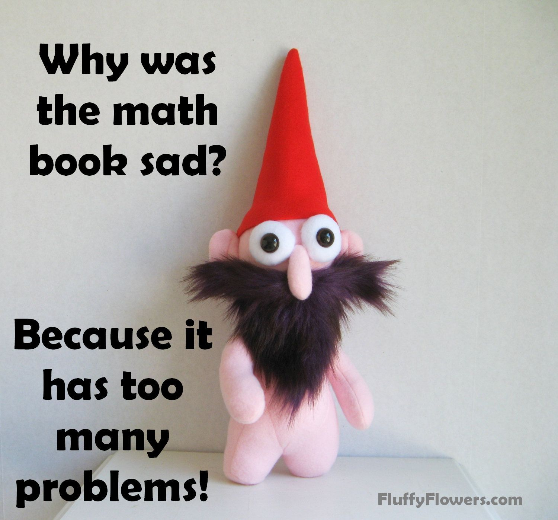 cute & clean math joke for children featuring an adorable