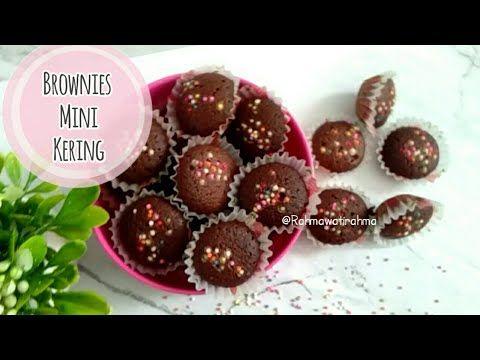 Resep Brownies Mini Kering Kue Kering Renyah Kue Lebaran 2020 Youtube Brownies Make It Yourself Cocoa