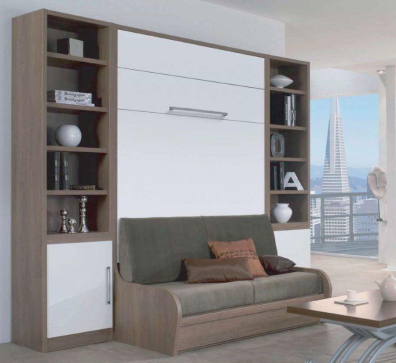 pingl par inside75 sur armoire lit gain de place. Black Bedroom Furniture Sets. Home Design Ideas