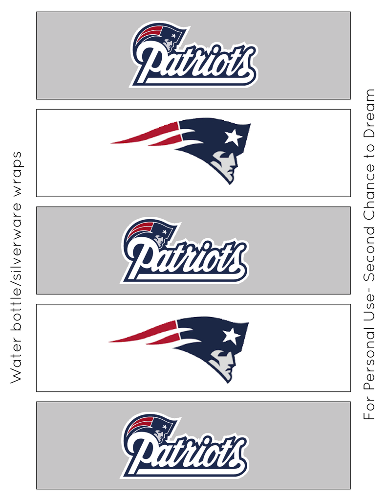 Patriots Water Bottle Labels Copy Jpg Box Super Bowl Printables Super Bowl Super Bowl 51