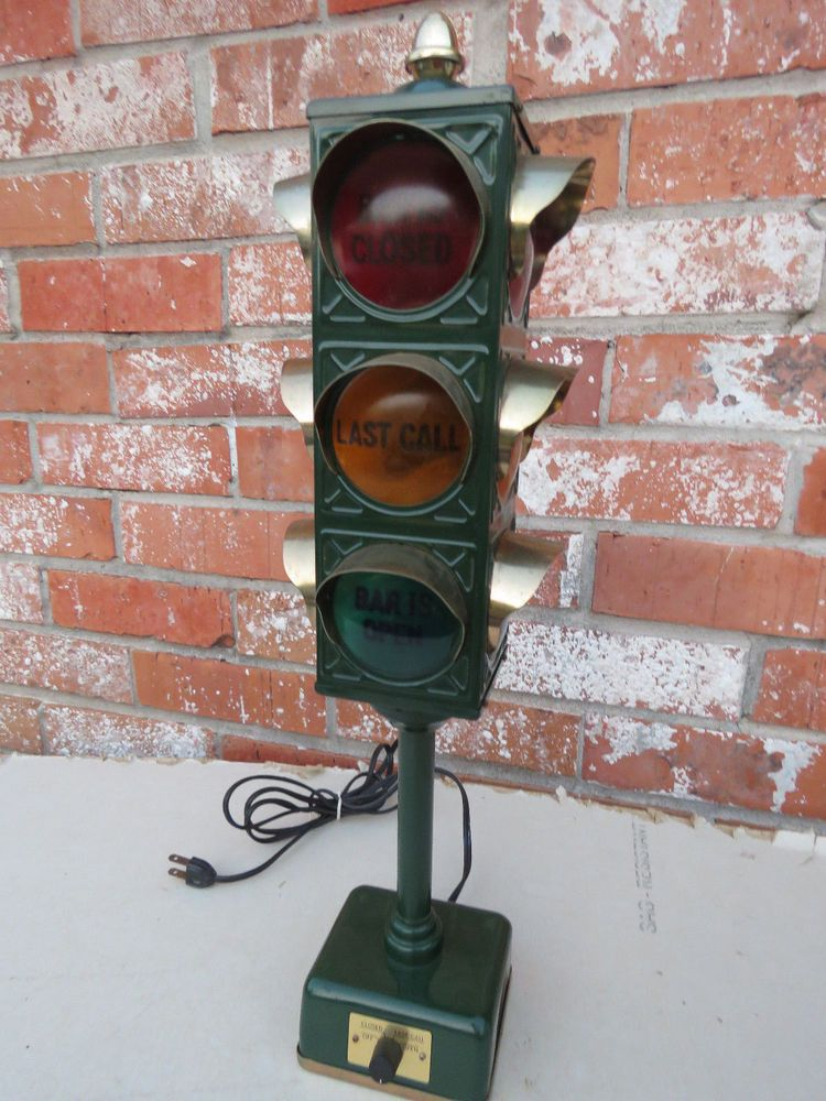 Vintage 60 S Japan B B Bar Stop Light Traffic Signal Lamp Man Cave Stop Light Traffic Signal Lamp