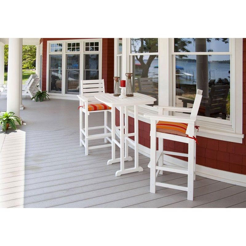 Polywood Captain Bar Arm Chair Maintenance Free Outdoor