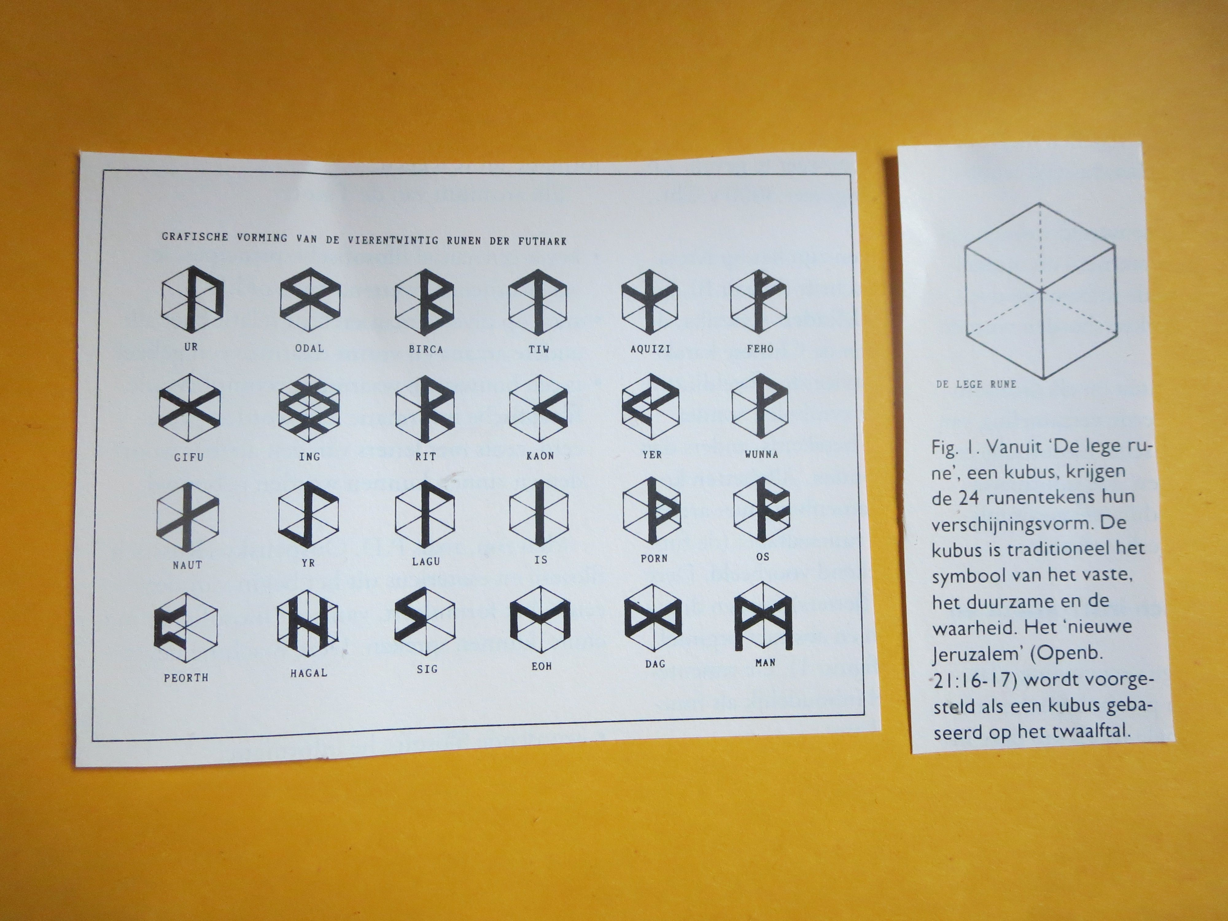 Runes Signs In A Cubes