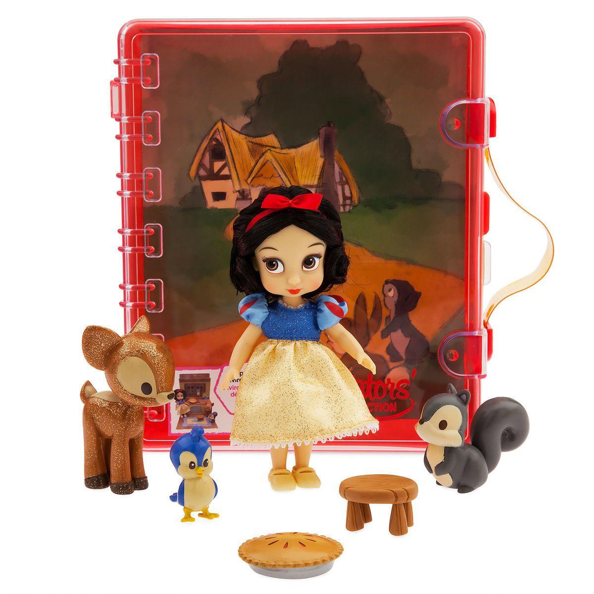 Product Image Of Disney Animators Collection Snow White Mini Doll Playset 2 Disney Animators Collection Disney Store Uk Disney Store