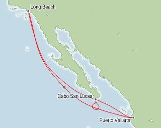 Carnival Miracle  Night Mexico Cruise From Long Beach California Roundtrip Year
