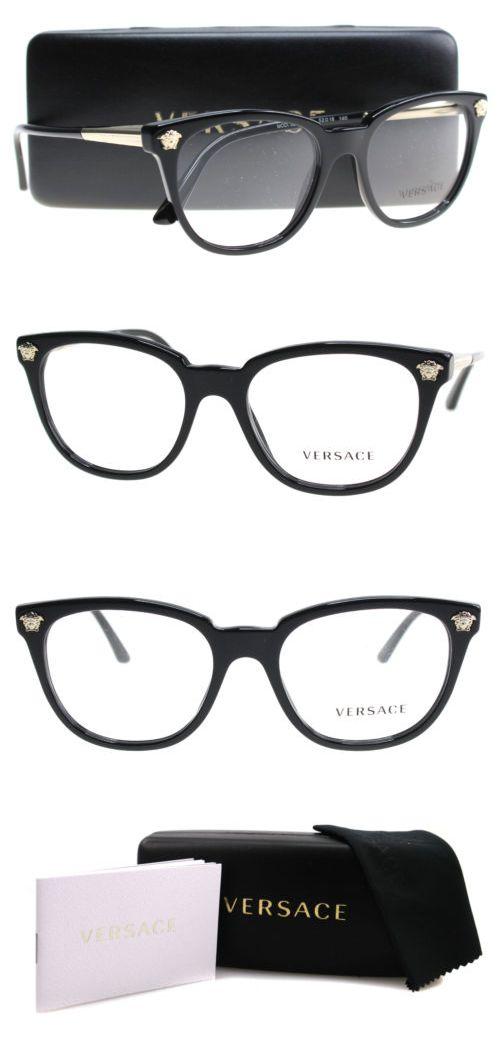 bee300a0d0 Fashion Eyewear Clear Glasses 179248  New Versace Eyeglasses Women Ve 3242  Black Gb1 Ve3242 54Mm -  BUY IT NOW ONLY   140 on eBay!