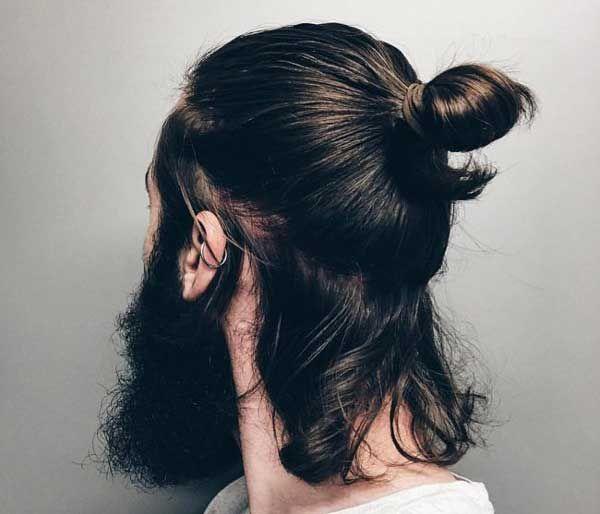 Wavy Man Bun Hairstyle Top Knot Hairstyles Long Hair Styles Men Man Bun Hairstyles
