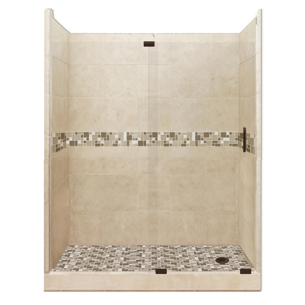 American Bath Factory Tuscany Grand Slider 34 In X 60 In X 80 In