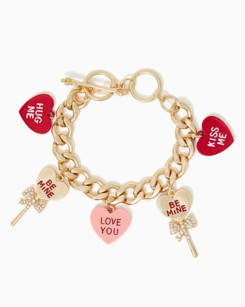 messages charlie bracelet with charming bracelets valentine for kiss online rhinestone bows chain hearts fashion s upc day charms candy accessories shop valentines and pin charm me hug heart