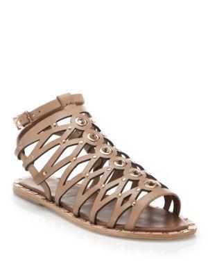 b383f2d1230e58 IVY KIRZHNER Santorini Strappy Leather Flat Sandals.  ivykirzhner  shoes   flats