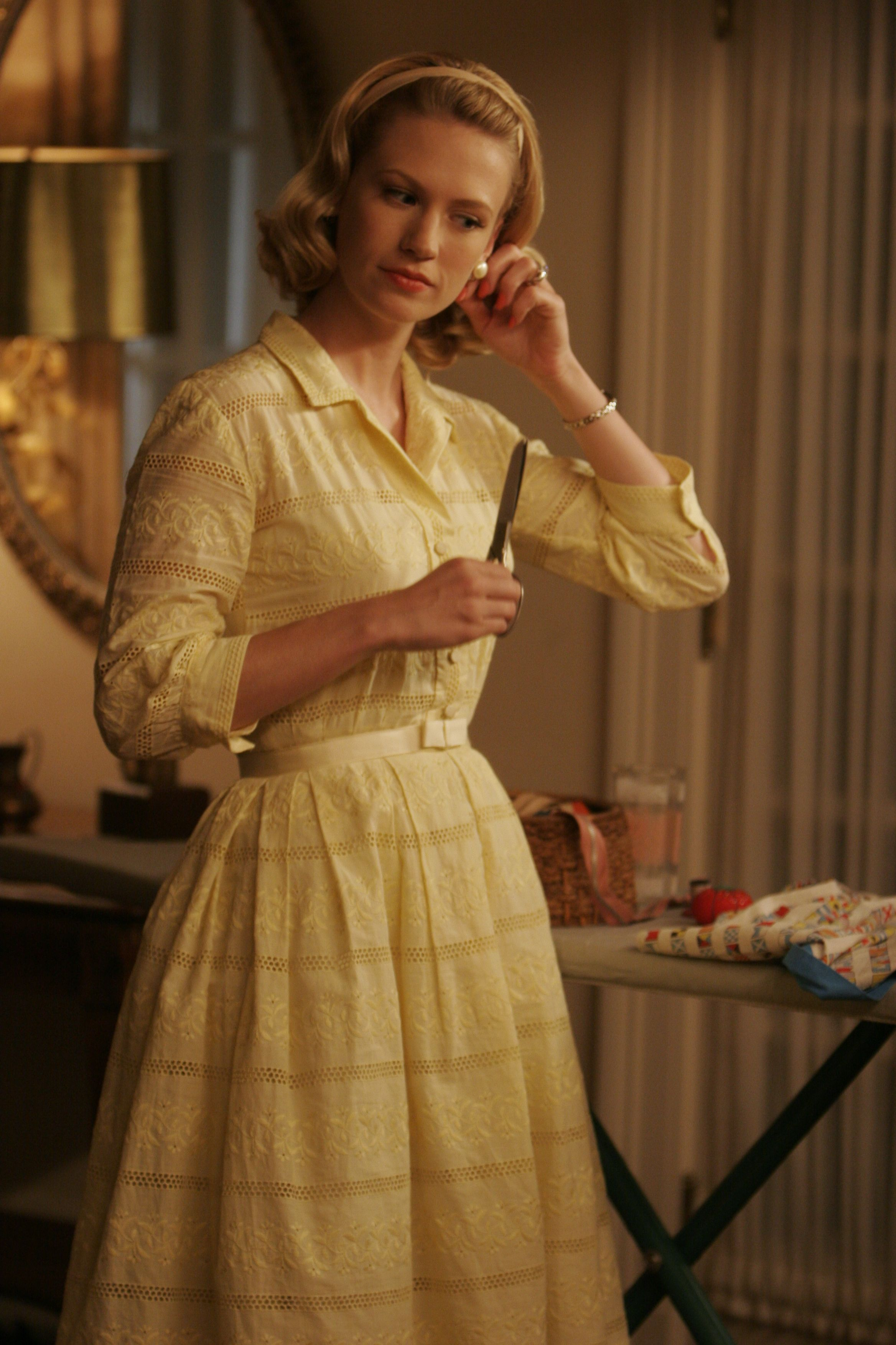 The stunning Betty epitomised 60's fashion in Mad Men