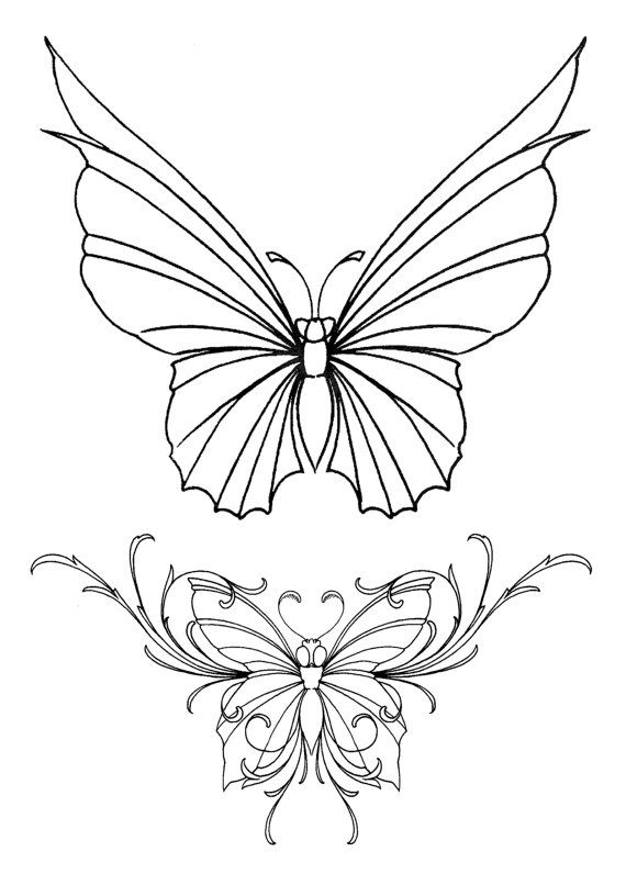 butterfly coloring book 24 printable coloring pages outlines color examples instant download butterfly coloring pages