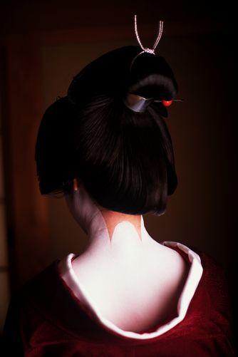 A Geiko S Split Peach Geisha Hair Geisha Japanese Culture