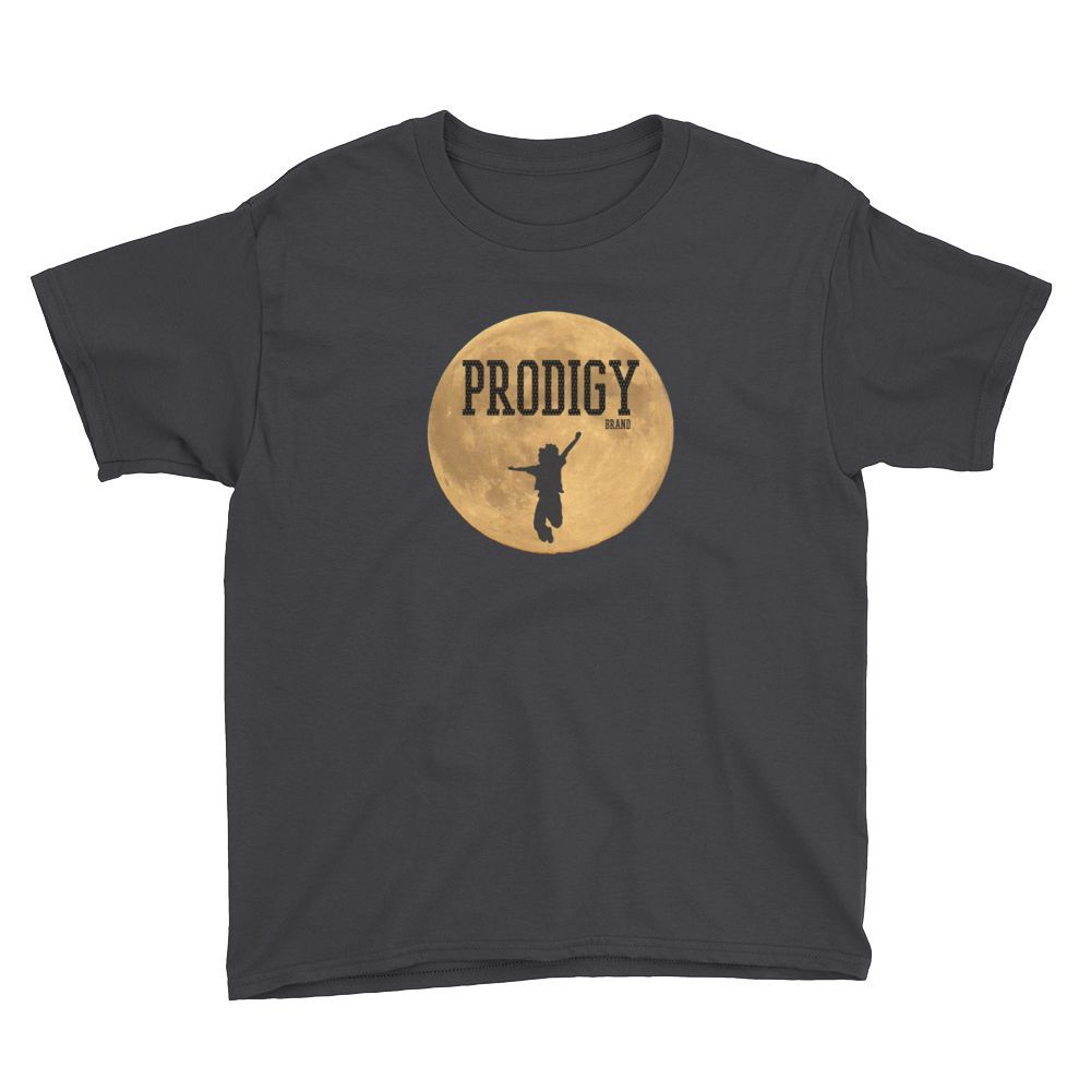 Prodigy Brand Logo Tee Youth BLK/Gold Sleeves, Shirts