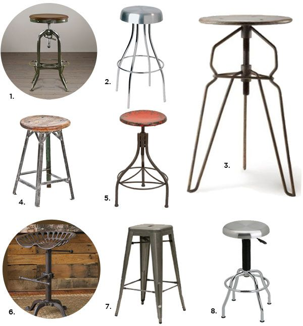 Style Inspiration Industrial Bar Stools Industrial Bar