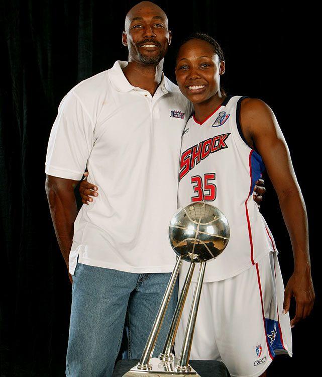 Karl & his daughter Cheryl Ford WNBA star   NBA   Karl malone, Wnba
