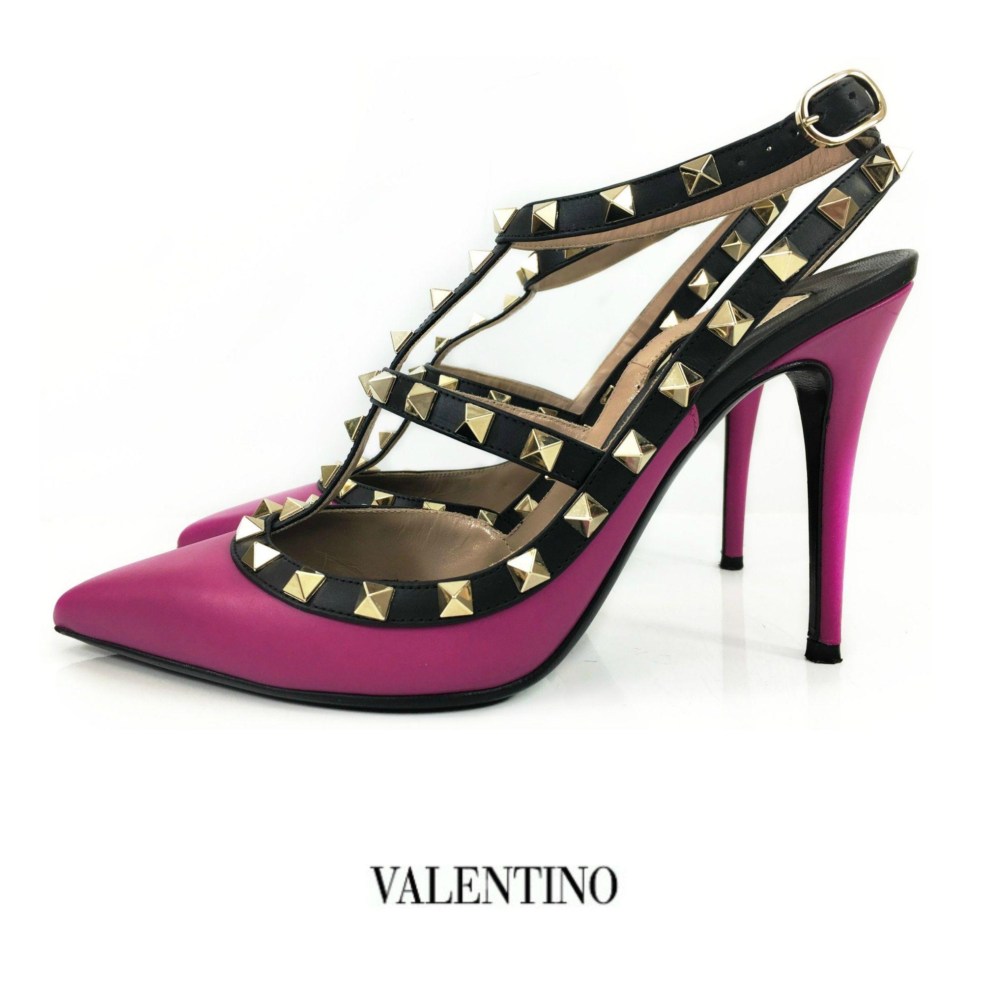 db11a67cc7f Valentino Pink Leather