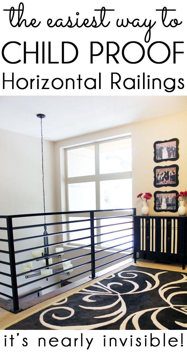 How To Child Proof Horizontal Railings Blue I Style