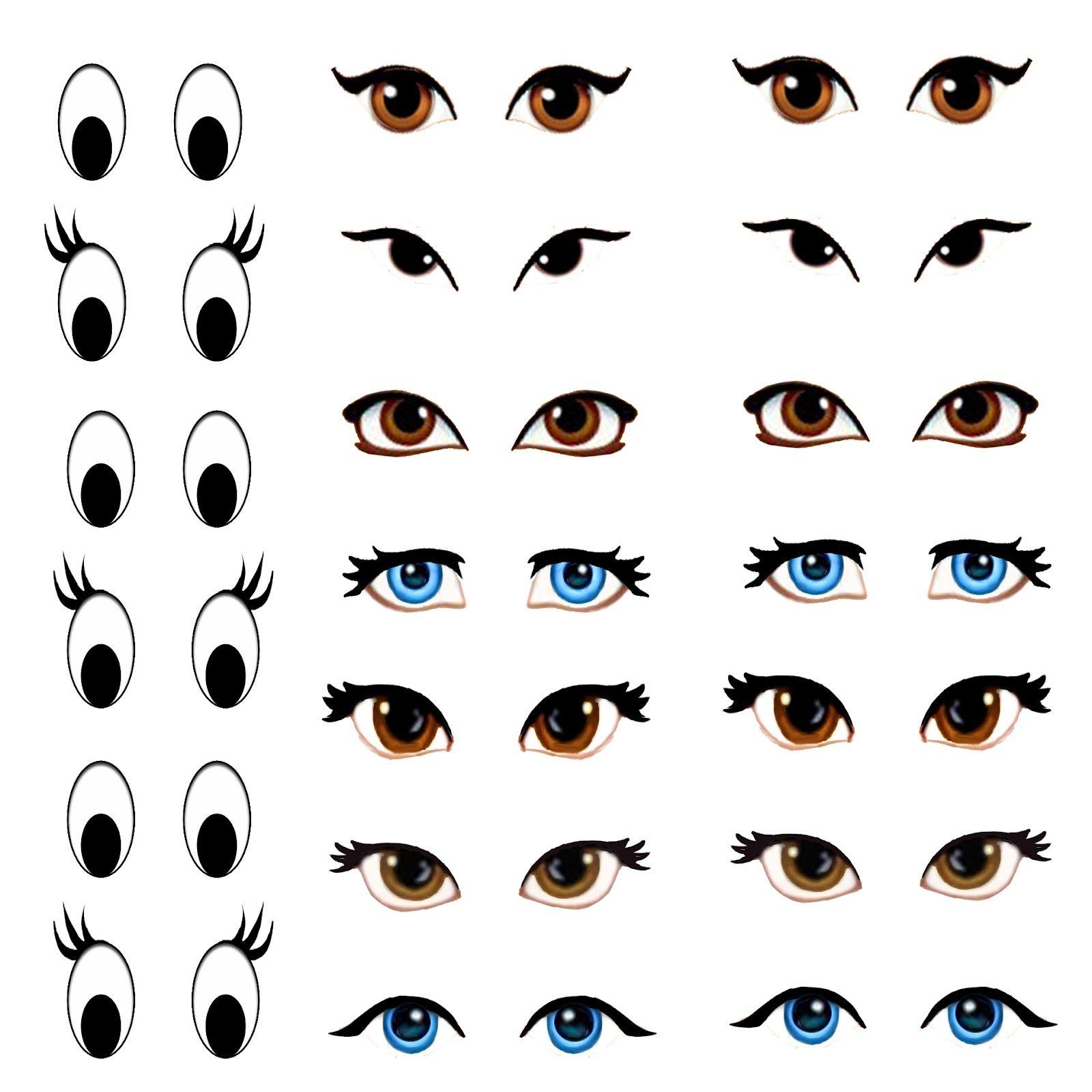 Manga Eyes for Amigurumi Practice Manga eyes, Doll eyes