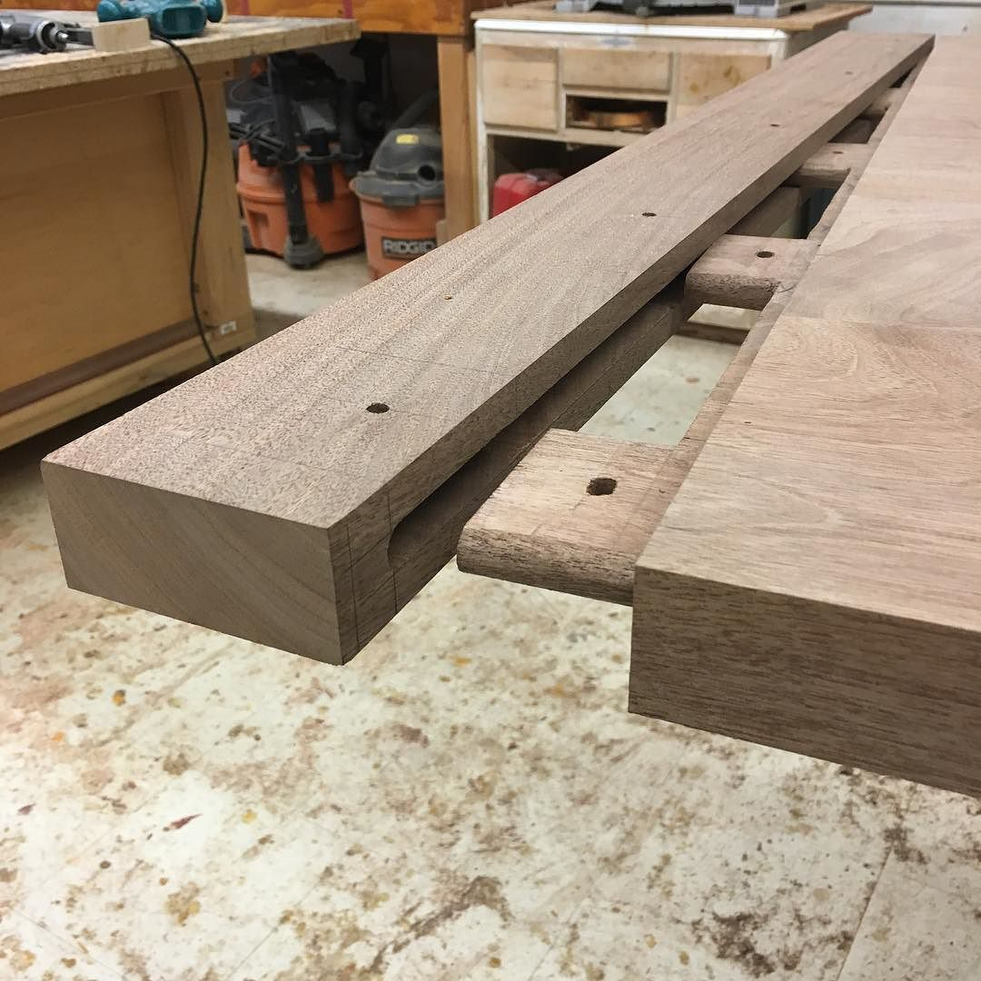 Joinery For Breadboard Ends For A Trestle Table Currently In The Shop. This  Joint Is