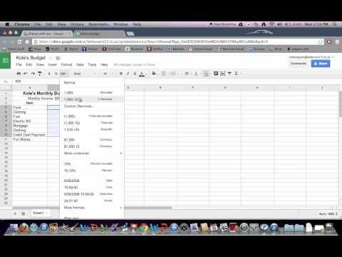 Google Spreadsheet Tutorial - YouTube Spreadsheets Pinterest