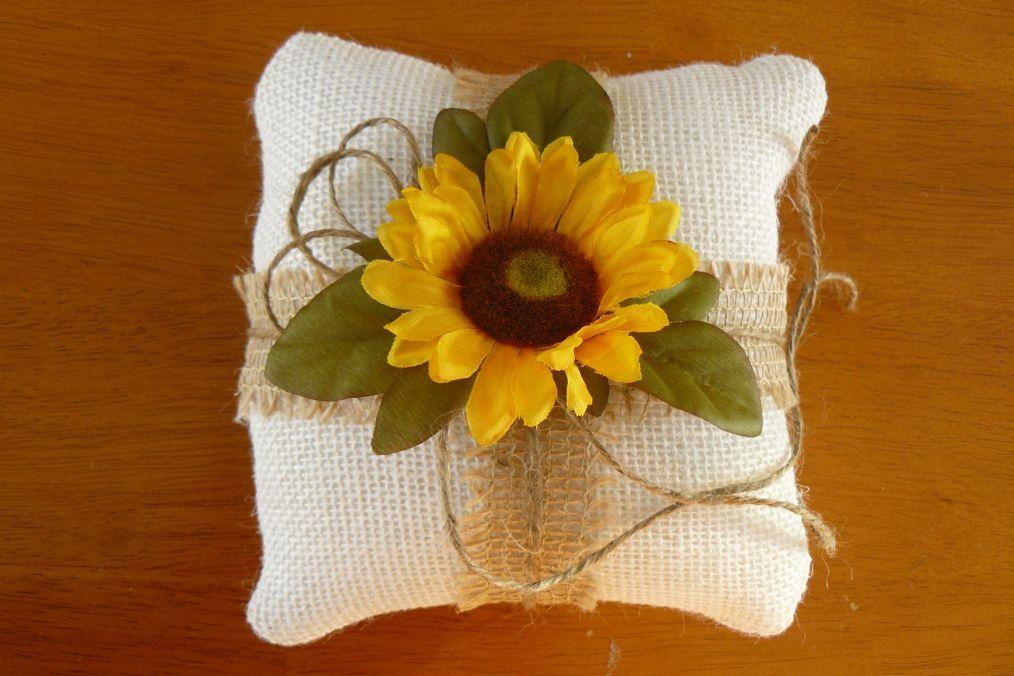 34++ Sunflower wedding ring pillow ideas