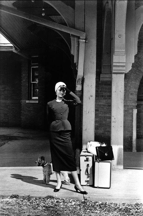 Audrey Hepburn during the filming of Sabrina, New York,1954