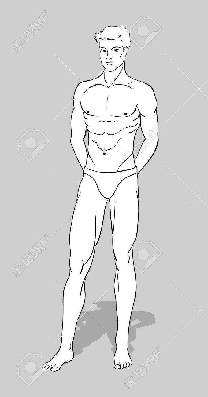 Figurilla masculina de diseño de moda | D R A W | Pinterest ...