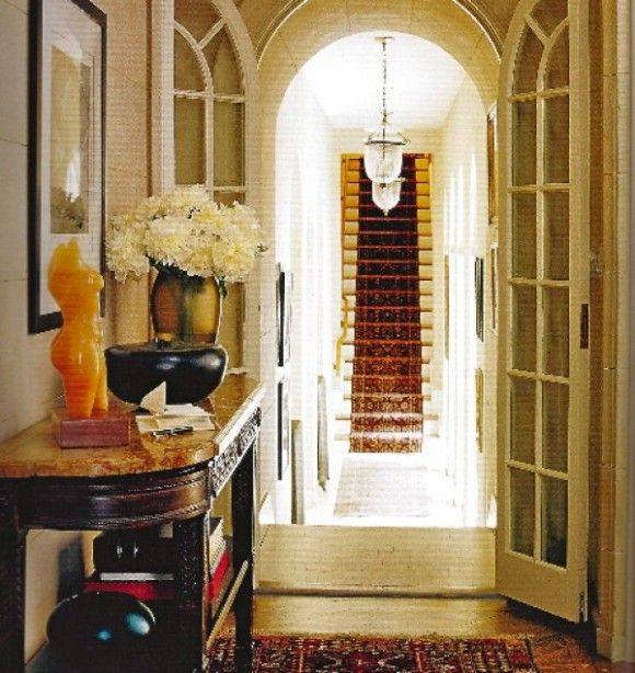 Bold entryway detail. Home of director, Spike Lee. At Home with Town & Country. Architect, Max Bond.