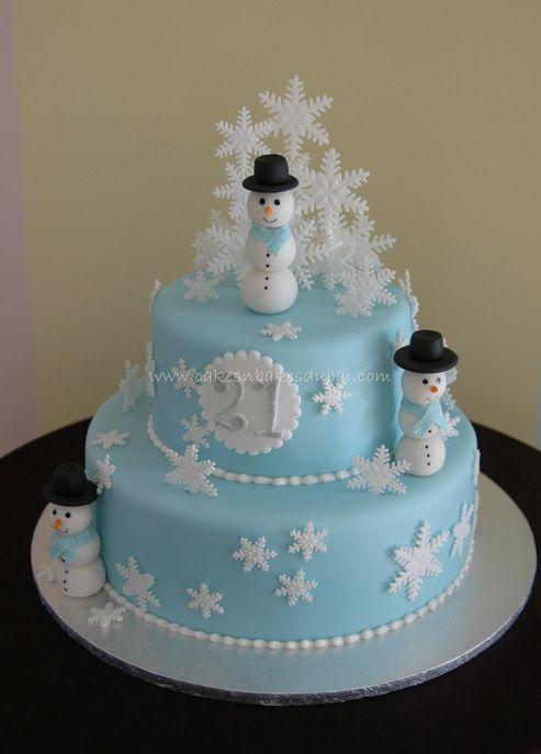 Swell Snowman Cake Winter Cakes Birthday Winter Wonderland Cake Personalised Birthday Cards Veneteletsinfo