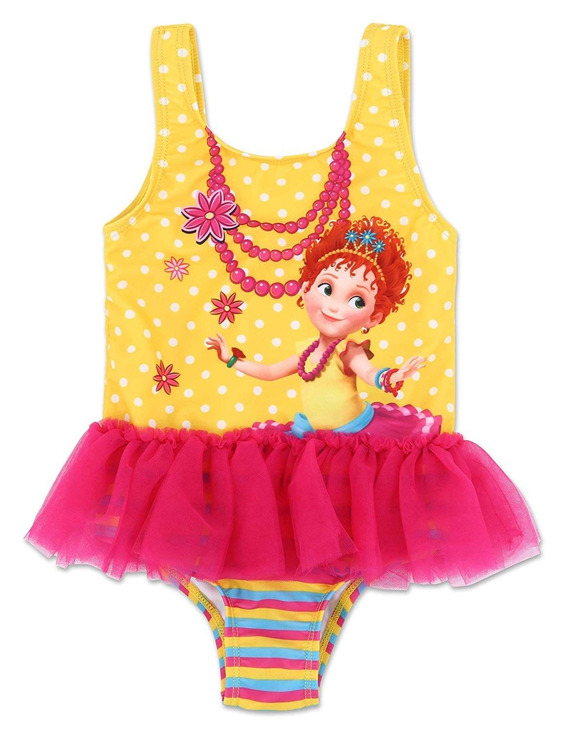 Dreamwave Toddler Girl Authentic Character One Piece Swimsuit UPF 50