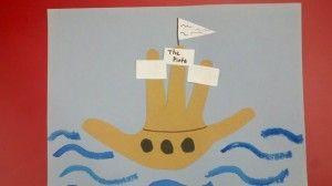 Columbus Ships Preschool Activities Christopher Columbus Activities Handprint Art