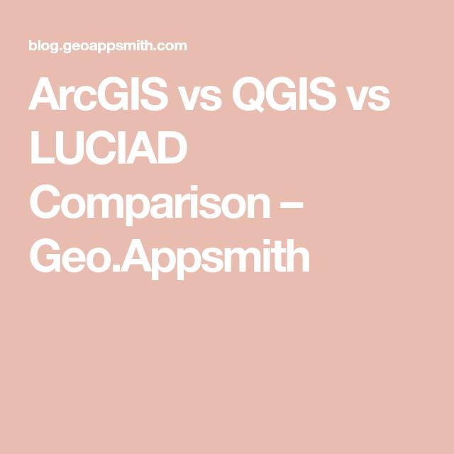 ArcGIS vs QGIS vs LUCIAD Comparison – Geo Appsmith | Gis | Geo