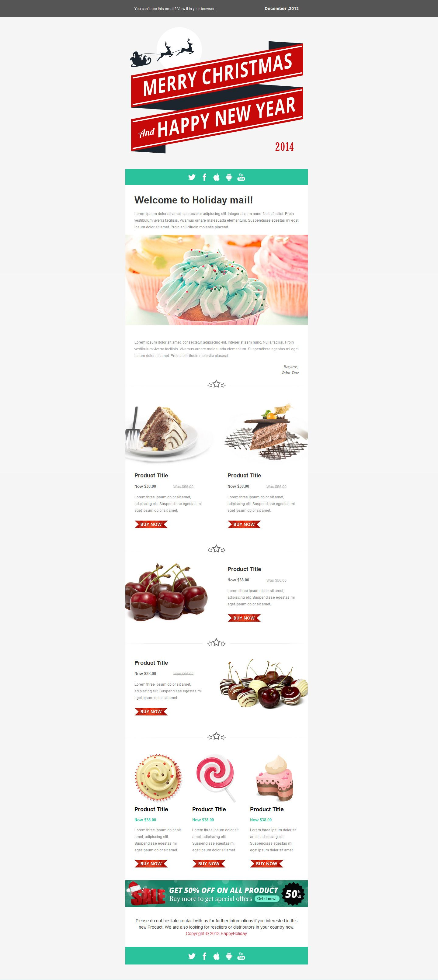 happy new year responsive email templates year happy responsive templates