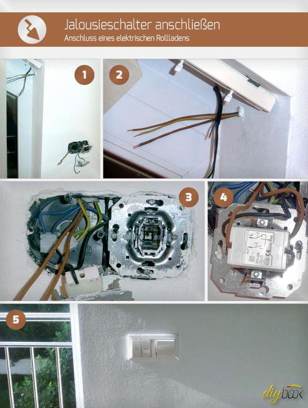 jalousieschalter anschlie en anschluss eines elektrischen rollladens elektro verlegen. Black Bedroom Furniture Sets. Home Design Ideas