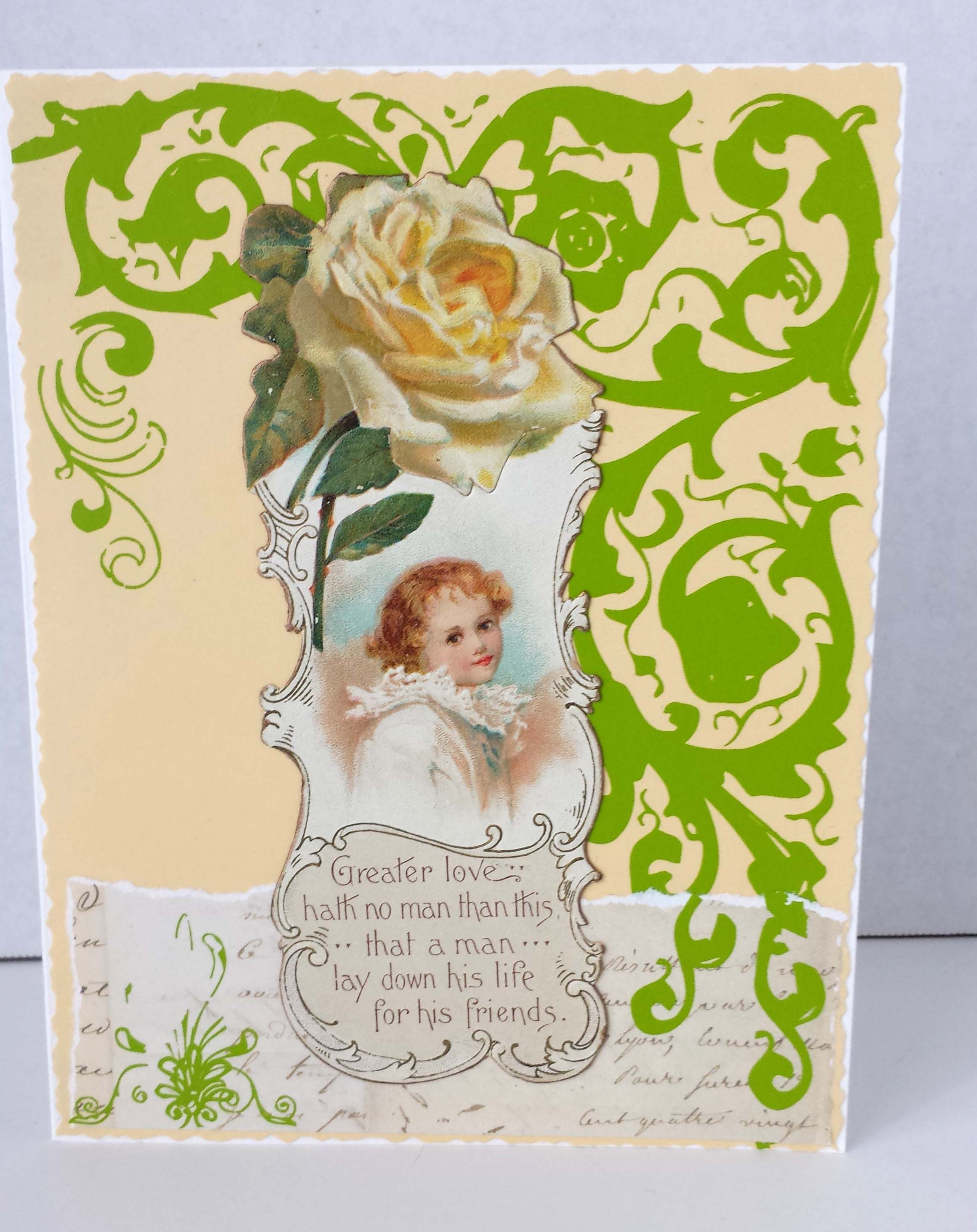 Vintage victorian greeting card created from real vintage paper vintage victorian greeting card created from real vintage paper married to new papers and embellishments m4hsunfo