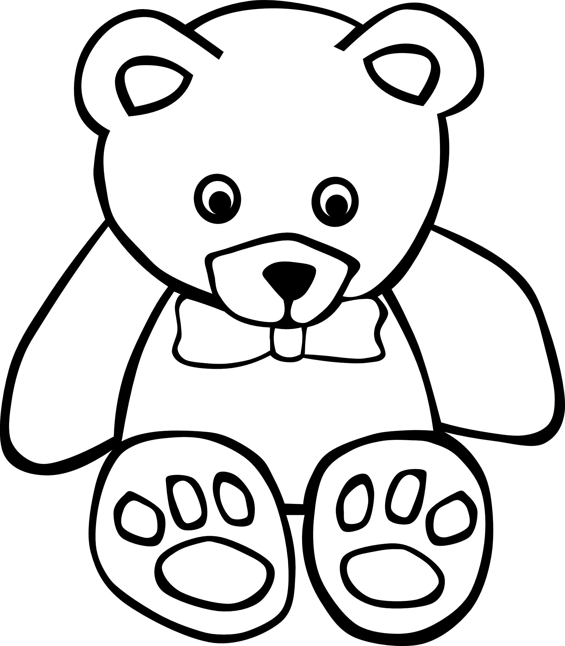 Languages Free Printable Teddy Bear Coloring Pages For Kids