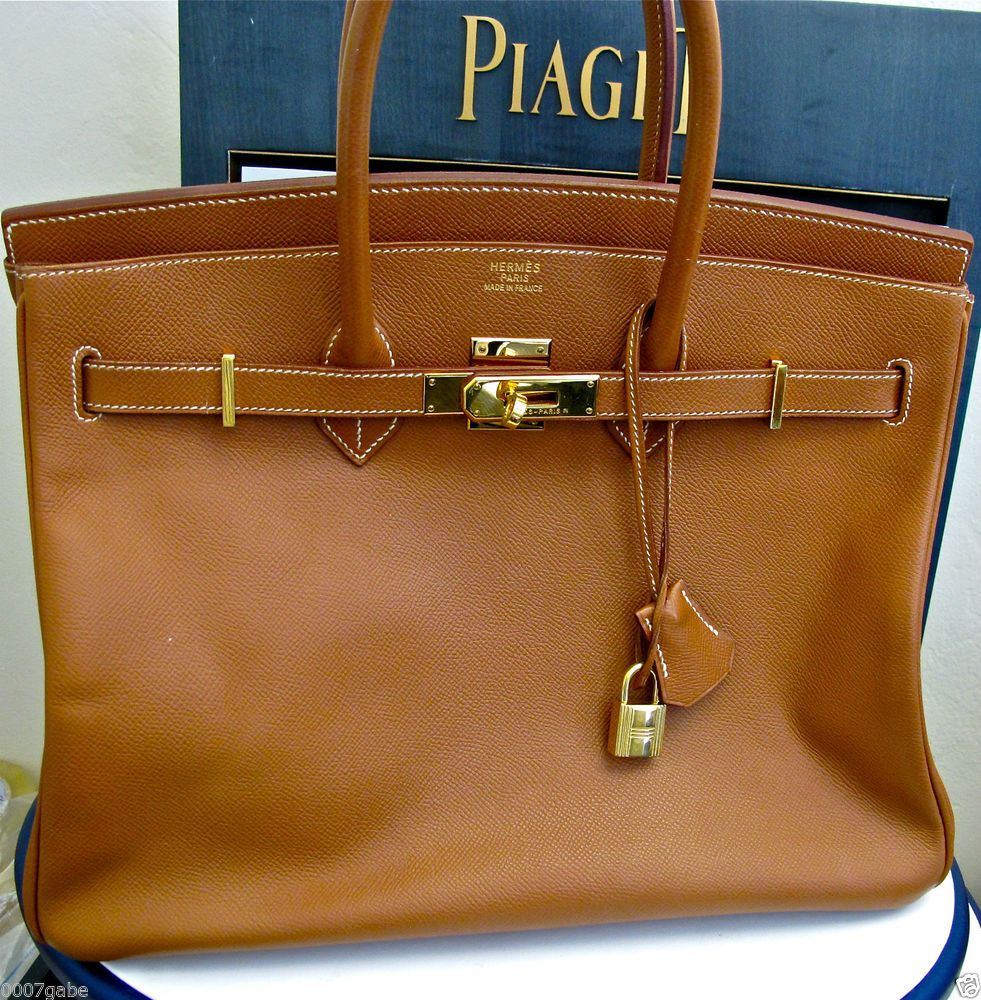 ... germany hermes birkin 35cm bag classic brown leather y g hardware mint  preow 2003 3efed 82514 52f625b7eeed7