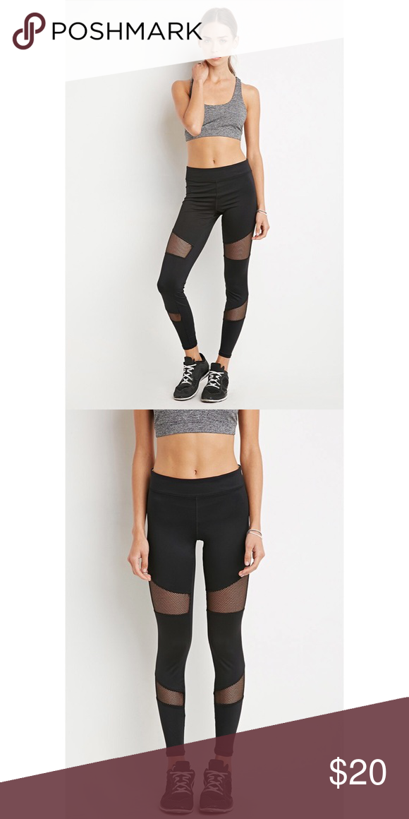 NWOT Mesh Leggings Forever21. Mesh leggings. Never worn. Black. lululemon athletica Pants Leggings