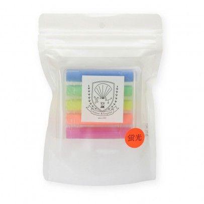Dustless chalk-Craie sans poussière Fluo - Lot de 5  Kitpas