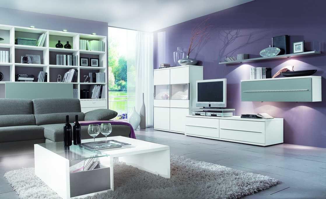Wohnzimmer Karlsruhe ~ Loddenkemper wohnkombination vierteilig mit weiß & softgraue