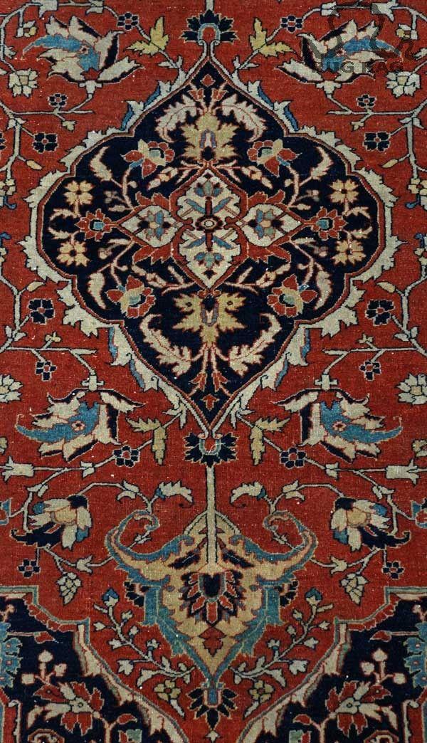 Hadji Jalili Orange Antique Area Rug Area Rugs Rugs Antiques