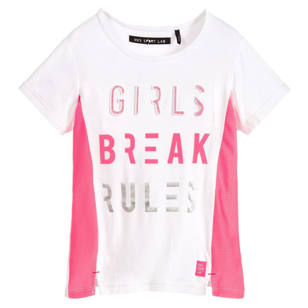 7e367c8793 Girls Activewear T-Shirt for Girl by IKKS Sport Lab. Discover more  beautiful designer Tops for kids online at Childrensalon.co.