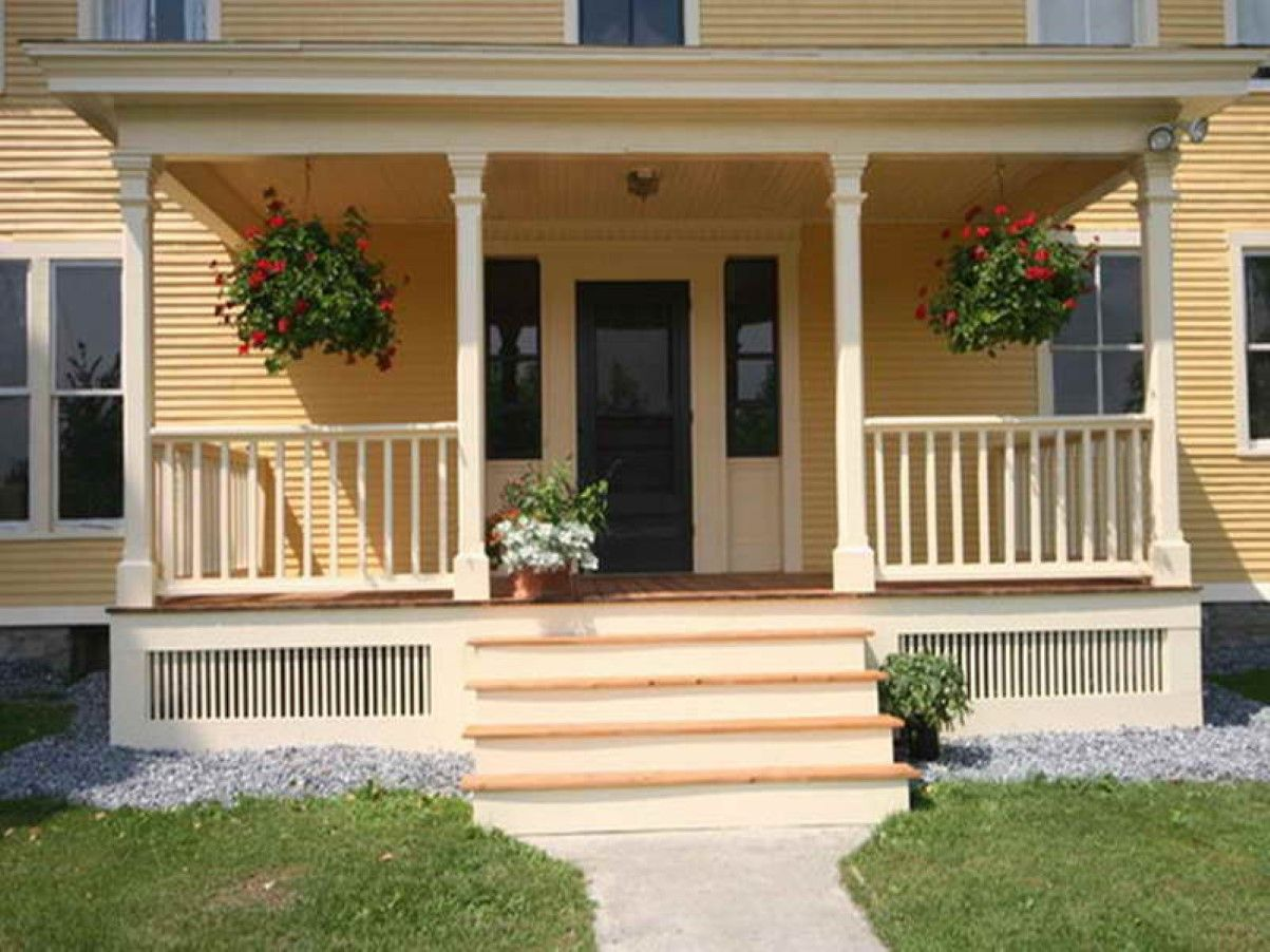 Best Amazing Front Stoop Design Gorgeous Yellow House Color 400 x 300